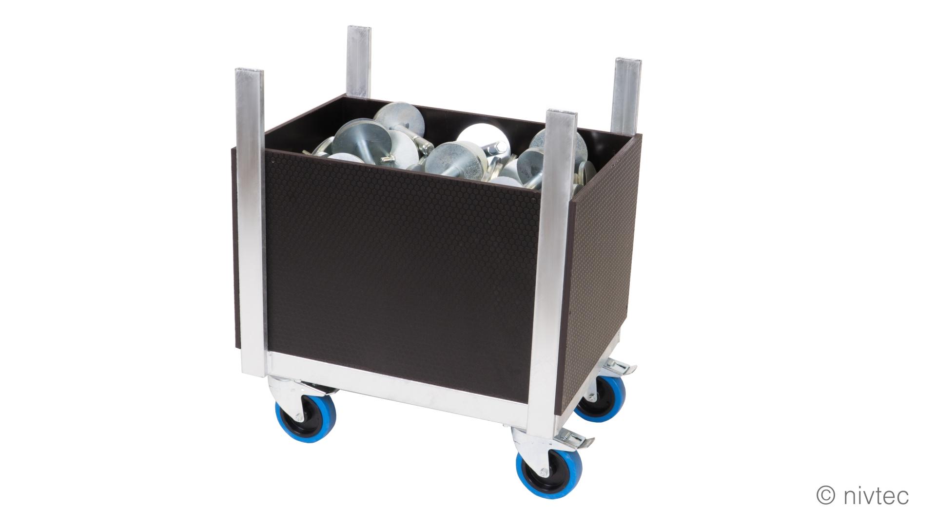 nivtec 6.2.2.3 Transportwagen Zubehoerteile klein beladen